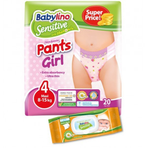 Confezione Prova Pants Tg4 GIRL - Salviettine